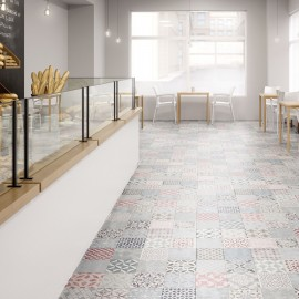 Mosaic Tile S180147 Tarimas Flotantes Laminadas Faus Retro AC6  suelo