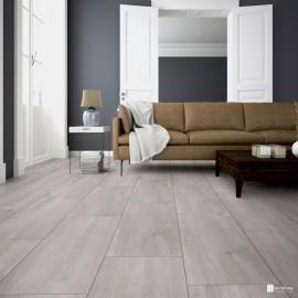 Tarima Flotante Laminada Ter Hürne Trend Line, Oak silver grey G10 1850, AC4 Clase 32, 20 Años de Garantía, escena