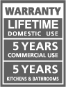 Garantía de por vida para uso doméstico
