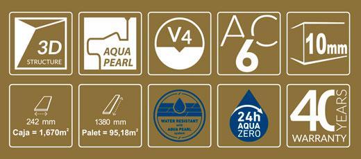 Características y sellos de Kronopol Fiori