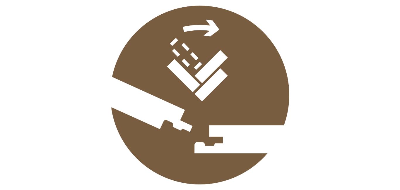 Allround Click Sin lamas derechas ni izquierdas para una sencilla instalación