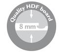 sello de calidad del tablero hdf 8 mm de espesor